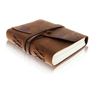 Moonster Leather Journal Writing Notebook - Best Notebook for Journaling: Best antique design