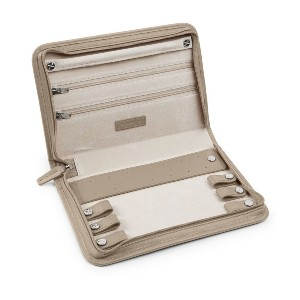 Leatherology Large Jewelry Case - Best Jewelry Organizer for Travel: Full-Grain Leather Case