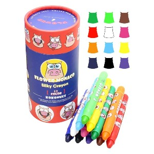 Lebze Silky Washable Baby Crayon - Best Crayons for Toddlers: Safe Crayons