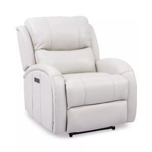 Macy's Leiston  - Best Recliners for Seniors: Side located switch panel and USB port