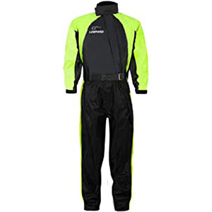 Leopard Hi-vis 1PC Waterproof Windproof Motorbike Motorcycle Rain Suit - Best Raincoat for Motorcycle Riders: High Visibility and Safe Guard