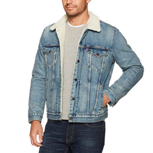 Levi's Men's Type 3 Sherpa Trucker Jacket - Best Jacket for Summer: Denim jacket for man