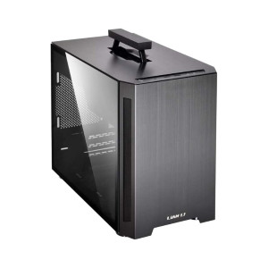 LIAN LI TU-150WX  - Best PC Cases for Airflow: Retractable Magnetic Handle for Added Portability