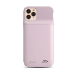 CASELY Light Pink Battery-Powered Charging Case - Best Card Holder Phone Case: Fun and Cute Phone Accessory