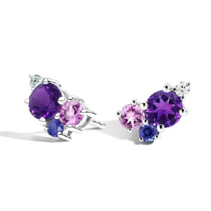 Brilliant Earth Lilac Bouquet Earrings - Best Jewelry for 18th Birthday: Eternal bouquet of love