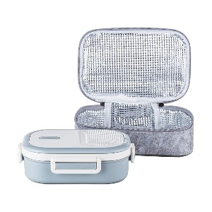 Lille Home Stainless Steel Leakproof Bento Lunch Box - Best Lunch Box to Keep Food Hot: Lunch Bag Included