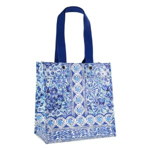 Lilly Pulitzer Blue Market Shopper Bag - Best Washable Shopping Bags: Look good while doing good