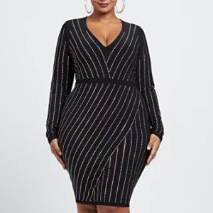 Fashion to Figure Lily Stud Detail Bodycon Dress - Best Party Dress for Plus Size: Perfect for any occasion