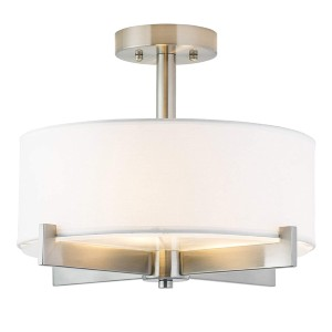 Linea di Liara Allegro Semi Flush Mount Ceiling Light - Best Ceiling Light for Kitchen: Compatible with Variety of Incandescent