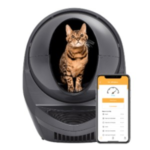 Litter-Robot 3 Connect - Best Self Cleaning Litter Box for Large Cats: Never Scooping Just Got Easier