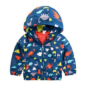 Little Hand Little Boys Dinosaur Rain Coat - Best Raincoats for Toddlers: Durable color