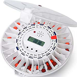 LiveFine Automatic Pill Dispenser - Best Pill Dispensers for Seniors: Eliminate confusion with this automatic organizer