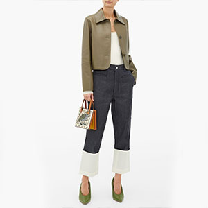 Loewe Cropped leather jacket - Best Jacket for Summer: Jacket with butter-soft leather