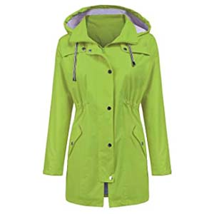 LOMON Raincoat Women - Best Raincoats for Hiking: Dry and comfortable in bright color