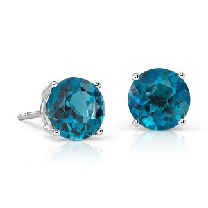 Blue Nile London Blue Topaz Stud Earrings - Best Jewelry for 25th Wedding Anniversary: Elegant and luxurious