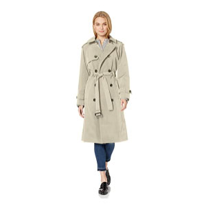 LONDON FOG 3/4 Length Double-Breasted Trench  - Best Raincoats Under $100: Fashionable and Nice-cut Jacket