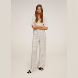 Mango Long printed jumpsuit - Best Casual Jumpsuit: Great for taller people