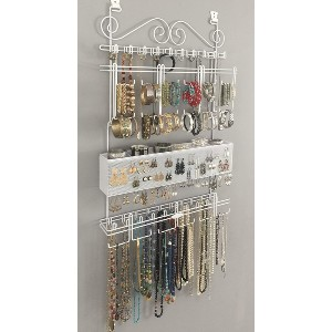 Longstem Organizers Over-Door or Wall Jewelry Organizer  - Best Wall Mounted Jewelry Organizer: Heavy Duty Large Organizer