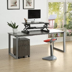 Lorell Sit-to-stand Gas Lift Desk Riser - Best Adjustable Standing Desk on a Budget: Electric Gas-Spring Monitor Lifters