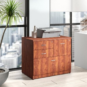 Lorell Essentials 4-Drawer Lateral Filing Cabinet - Best Lateral File Cabinets: Versatile Four Drawers File Cabinet