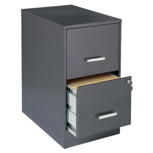 Lorell 2 Drawers Vertical Steel Lockable Filing Cabinet - Best File Cabinets for Home Office: Two Full High-Side Drawers