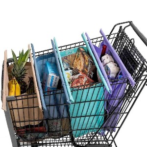 Lotus Trolley Bags Eco-friendly 4-Bag Grocery Tote - Best Washable Shopping Bags: Heavy-duty grocery bags