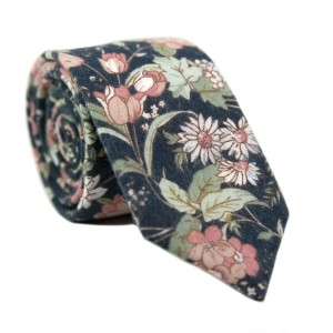 DAZI Lotus - Best Tie for Brown Suit:  Best for casual events