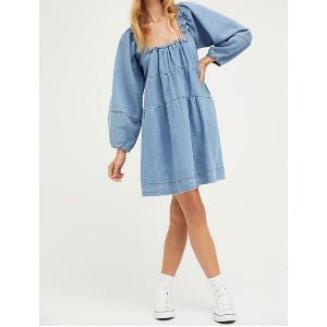 Free People Lou Jean Babydoll Dress - Best Dresses for Small Chest: Slash Hip Pockets