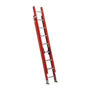 Louisville Ladder FE3216  - Best Extension Ladders for Home Use: Fiberglass Material is Non-Conductive