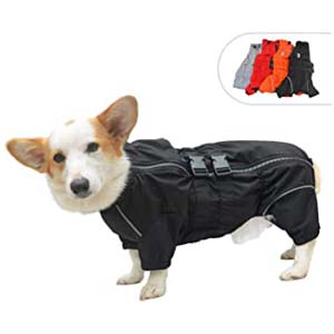 lovelonglong Dogs Waterproof Jacket - Best Raincoats for Corgis: For those who hate hoodie