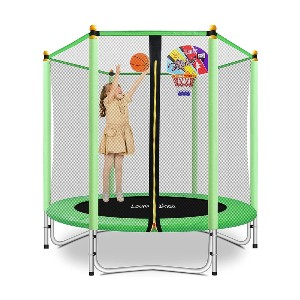 Lovely Snail 5FT Trampoline for Kids - Best Trampoline with Basketball Hoop: Great for kids under 10