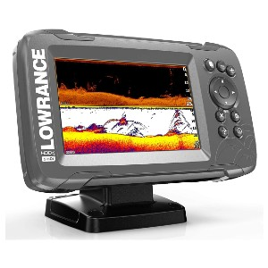 Lowrance Hook² 5 with SplitShot Transducer - Best Fish Finders GPS Combo Under $500: Wide-Angle CHIRP Sonar