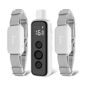 Lu&Ba Dog Shock Collar with Remote - Best Dog Training Collar for Small Dogs: Ergonomics Design and Safe