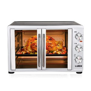 Luby Large Toaster Oven Countertop - Best Electric Oven for Baking: Large Oven with Different Temperature Set for Two Racks