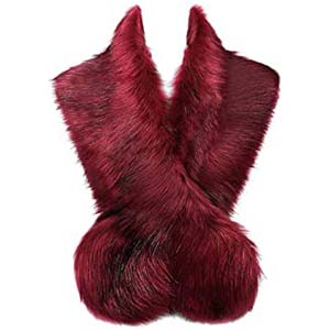 Lucky Leaf Women Winter Faux Fur Scarf - Best Scarves for Winter: Super luxurious yet affordable