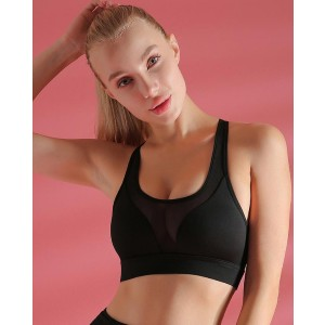 Lulacola Never Give Up Back Pocket Active Bra - Best Sport Bra for Small Chest: Comfortable Bra with Back Pocket