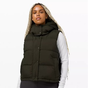Lululemon Wunder Puff Crop Vest - Best Down Vests for Women: Vest with Removable Hood