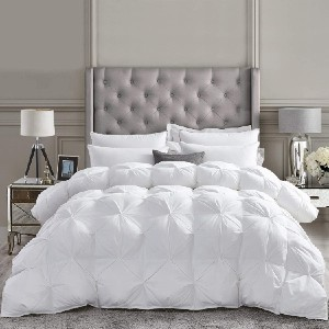 Egyptian Cotton Factory Outlet Store Luxurious All-Season Goose Down Comforter  - Best Gift for Pregnant Wife Birthday: Melt into the bed