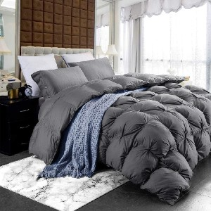 Egyptian Cotton Factory Outlet Store Luxurious Four-Season Goose Down Comforter Duvet Insert - Best Gift for Young Mom: Like a fancy hotel