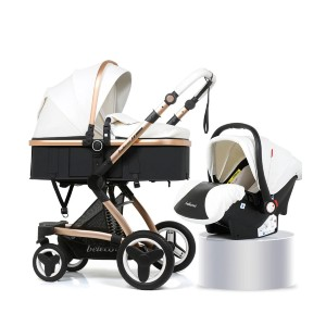Belecoo Luxury 3 in 1 - Best Strollers for Newborns: Large Space Seat Stroller Design