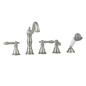 Glacier Bay Lyndhurst  - Best Bathtub Faucets: Smoothly Curved Spout for Easy Access