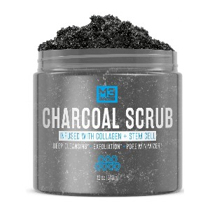 M3 Naturals Charcoal Scrub - Best Body Scrub for Ingrown Hairs: Detoxify and Polish Your Skin