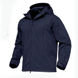 MAGCOMSEN Hooded Tactical Jacket Water Resistant - Best Raincoats for Cold Weather: Drawstring waist and hood