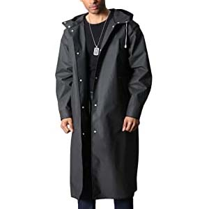MAGCOMSEN Men's Long Raincoat - Best Raincoats for Hiking: Rain jacket as a stylish outer