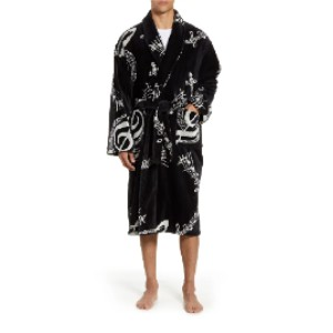 MAJESTIC INTERNATIONAL Terry Velour Robe - Best Robes for Men: Removable Tie Belt Robe