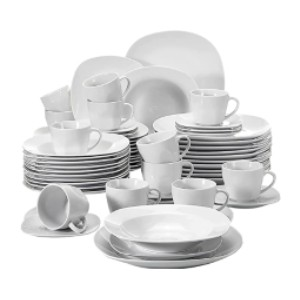 Malacasa Square Dishes Dinner Sets - Best White Porcelain Dinnerware Set: For wonderful dining experience