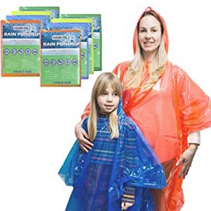 MANNCO Quality Poncho Family Pack - Best Raincoats for Disney: Looks like a family goal