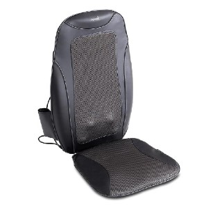 MEDICPURE PORTABLE SHIATSU HEATED MASSAGE SEAT CUSHION - Best Back Massager for Chair: Improved Blood Flow and Full Body Relaxation