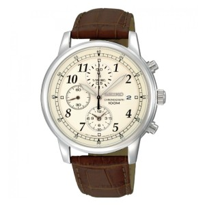 Seiko SPORTS CHRONOGRAPH - Best Waterproof Watches: Stainless Steel Material for Sturdy Band