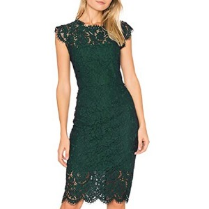 MEROKEETY Women's Sleeveless Lace Floral Dress for Party  - Best Party Wear Dress for Ladies: A must-have classic piece